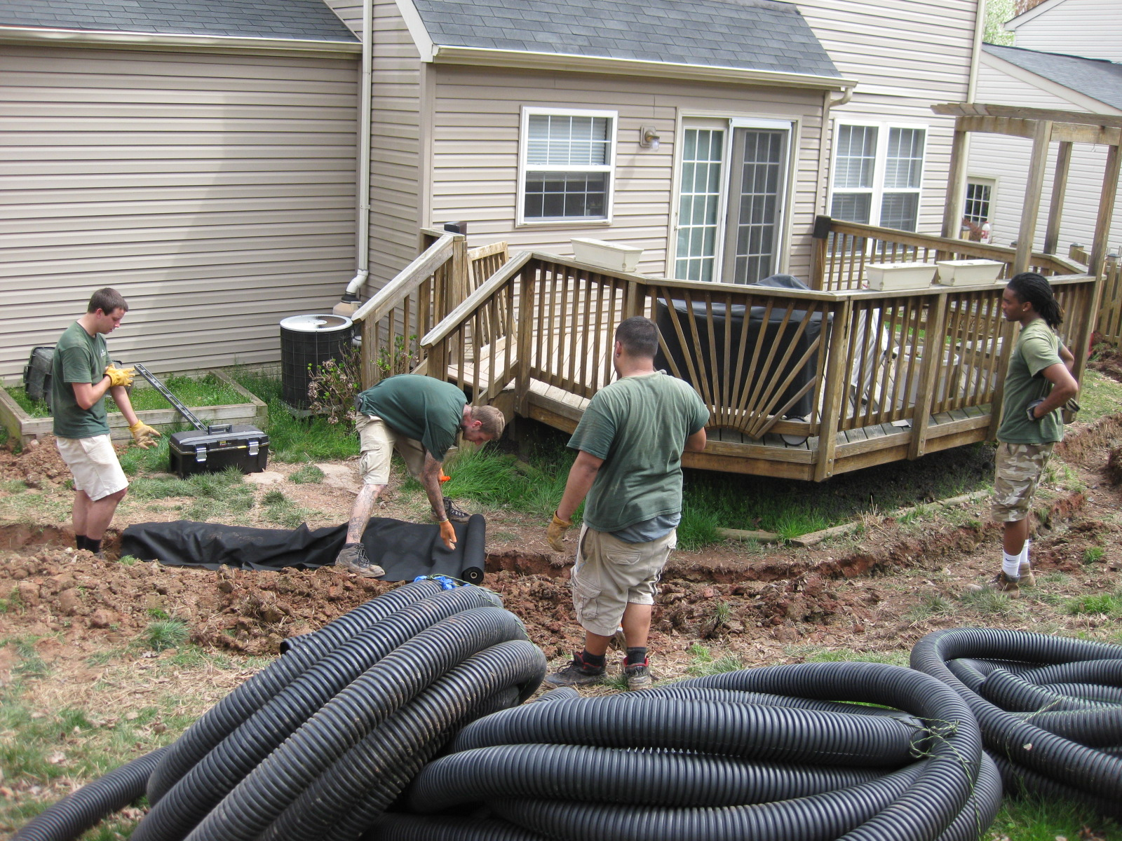 drainage installation manassas va four brothers tree u0026 landscaping