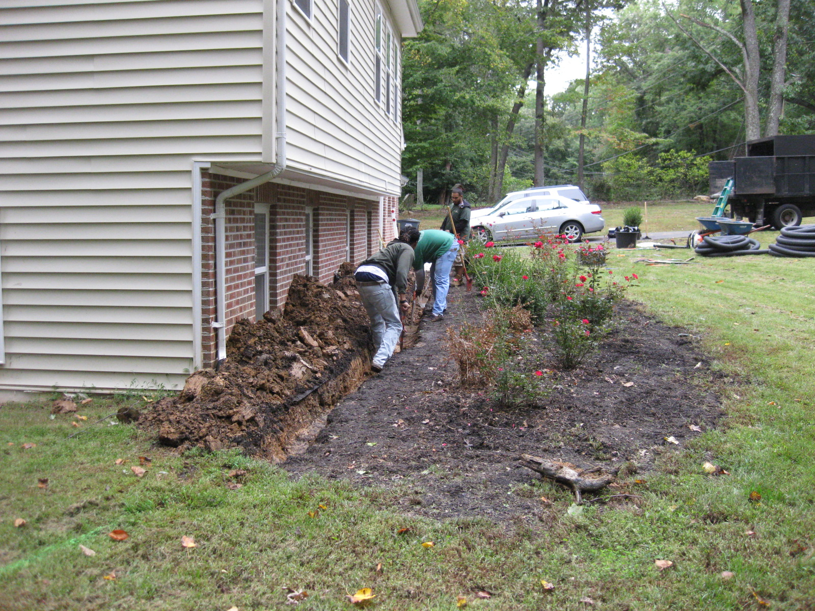 drainage install fairfax four brothers tree u0026 landscaping